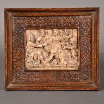 Mechels alabaster signed Gilles Nens | De Grande Antique Alabaster Sculptures