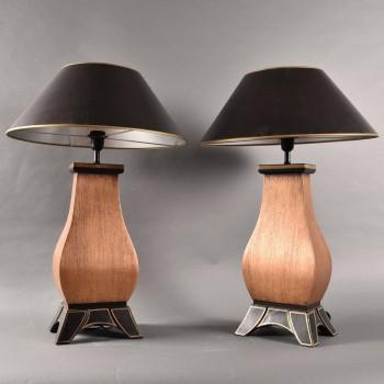Antique Pair of decorative lamps | De Grande Antique Lighting