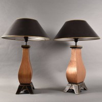 Antique Pair of decorative lamps | De Grande Antique Lighting