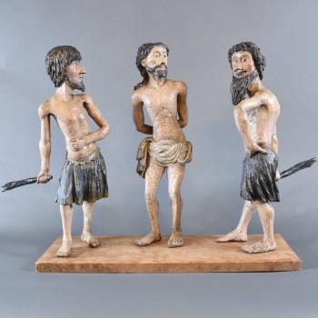 Flagellation of Christ | De Grande French folk art Sculptures