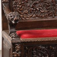 Walnut carved bench | De Grande Antique Furniture