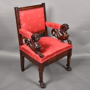 Chinese Style antique Mahogany Chair | De Grande Antique Chairs and Furniture