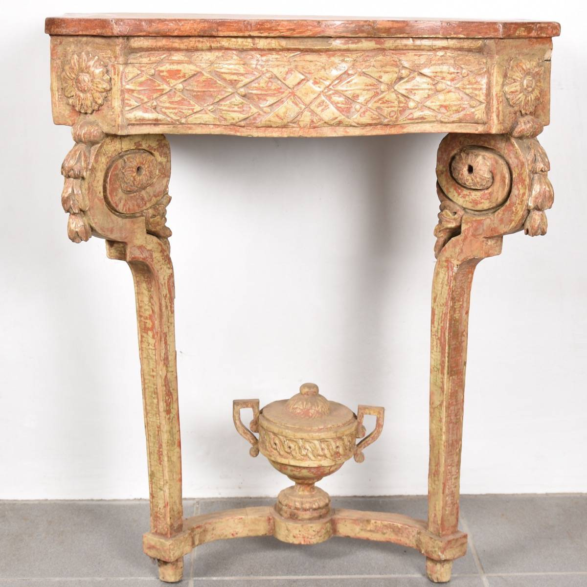 Gilded French console