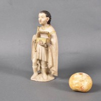 Alabaster Sculpture of a caped Figure | Mexican School De Grande Antique