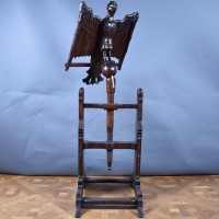 Antique Oak Eagle Music Stand