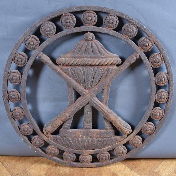 Antique Cast Iron Circular Panel