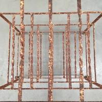 Antique Iron Wine rack