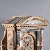 French marble Ornament with Clock |De Grande Antique Clock