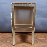 French Polychromed Armchair   De Grande French Antique Furniture