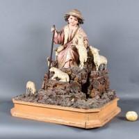 Italian Sculpture of a shepherd | De Grande Antique Sculpture nativity scene
