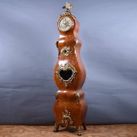 Tall case Clock with Bronze Decorations