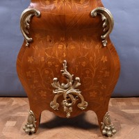Inlaid Tall case Clock with Bronze Decorations