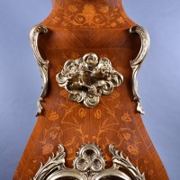Bronze Decorated Marquetry Tall case Clock