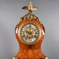 Bronze Decorated Inlaid Tall case Clock