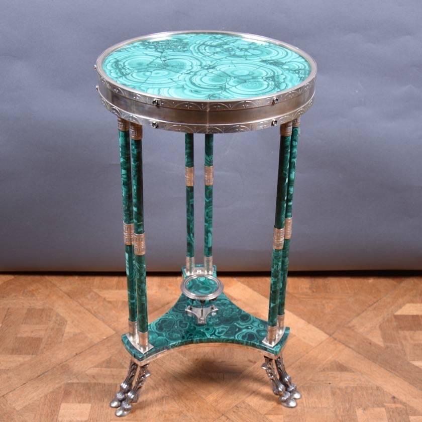 Malachite And Silver Tables De Grande Antique Furniture