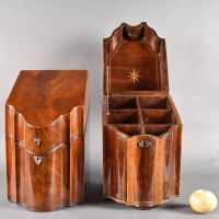 Pair of English Mahogany Boxes | De Grande Antique Boxes English Antique Furniture