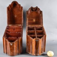 Pair of English Mahogany Boxes | De Grande Antique Boxes English Antique Furniture