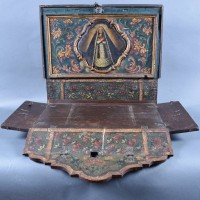 Antique Foldable Dutch Home Altar