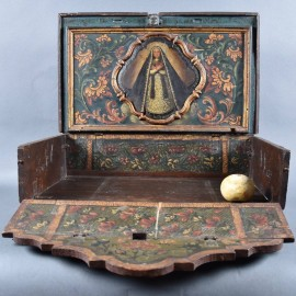 Antique Portable Home Altar Shrine