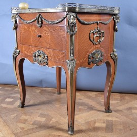 Antique Rosewood Louis XV Side Table