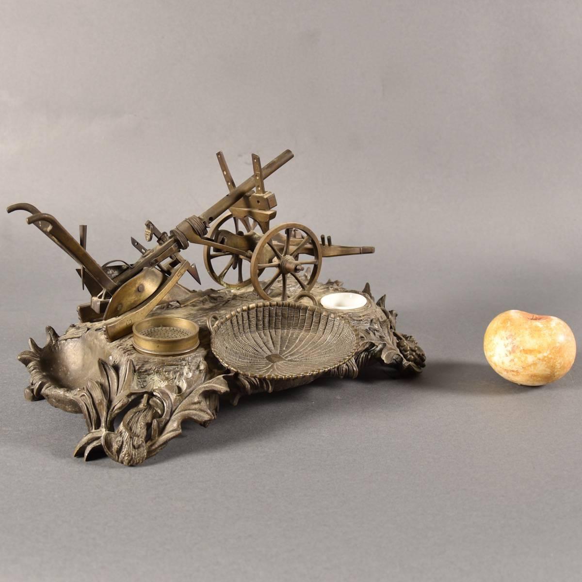 - Bronze Desk Stand De Grande Antique Desk Accessories