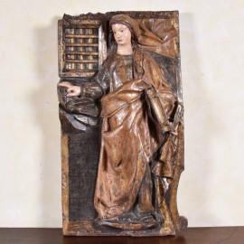 haute Epoque Figure of Saint Anne