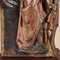 Carved Figure of Saint Anne