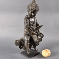 French Bronze Figure of a child | De Grande Fine Bronze