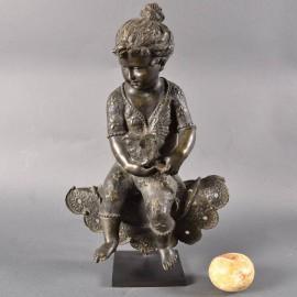 French Bronze Figure of a child | De Grande Fine Bronze