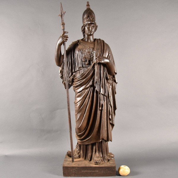 French Cast iron Standing figure of Minerva Giustiniani