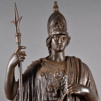 French Cast iron Standing figure of Minerva Giustiniani (Athena)