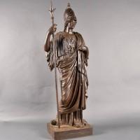 Cast iron figure of Minerva