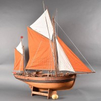 Model of a boat Thonier de Concarneau| De Grande Antique