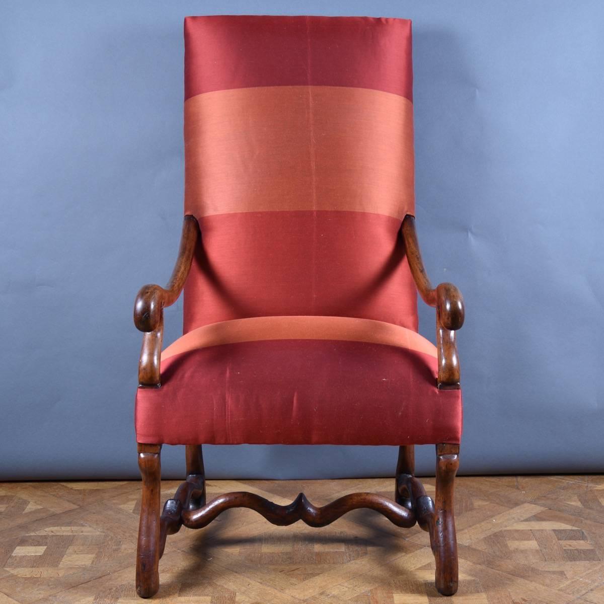 French Walnut Armchair De Grande French Antique Furniture