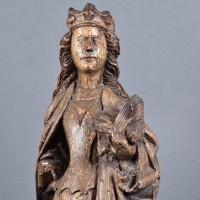 Flemish Sainte Catherine | De Grande Haute Epoque Flemish Statues