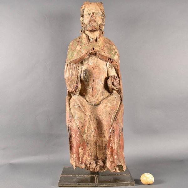 Haute Epoque French Saint Pierre Sculpture from The Chapelle de Ploubazlanec - Bretagne