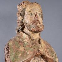 Haute Epoque French Saint Pierre Sculpture from The Chapelle de Ploubazlanec – Bretagne