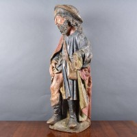 French Saint Roch Statue | De Grande French haute epoque