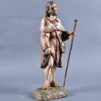 Spanish Saint Roch Sculpture