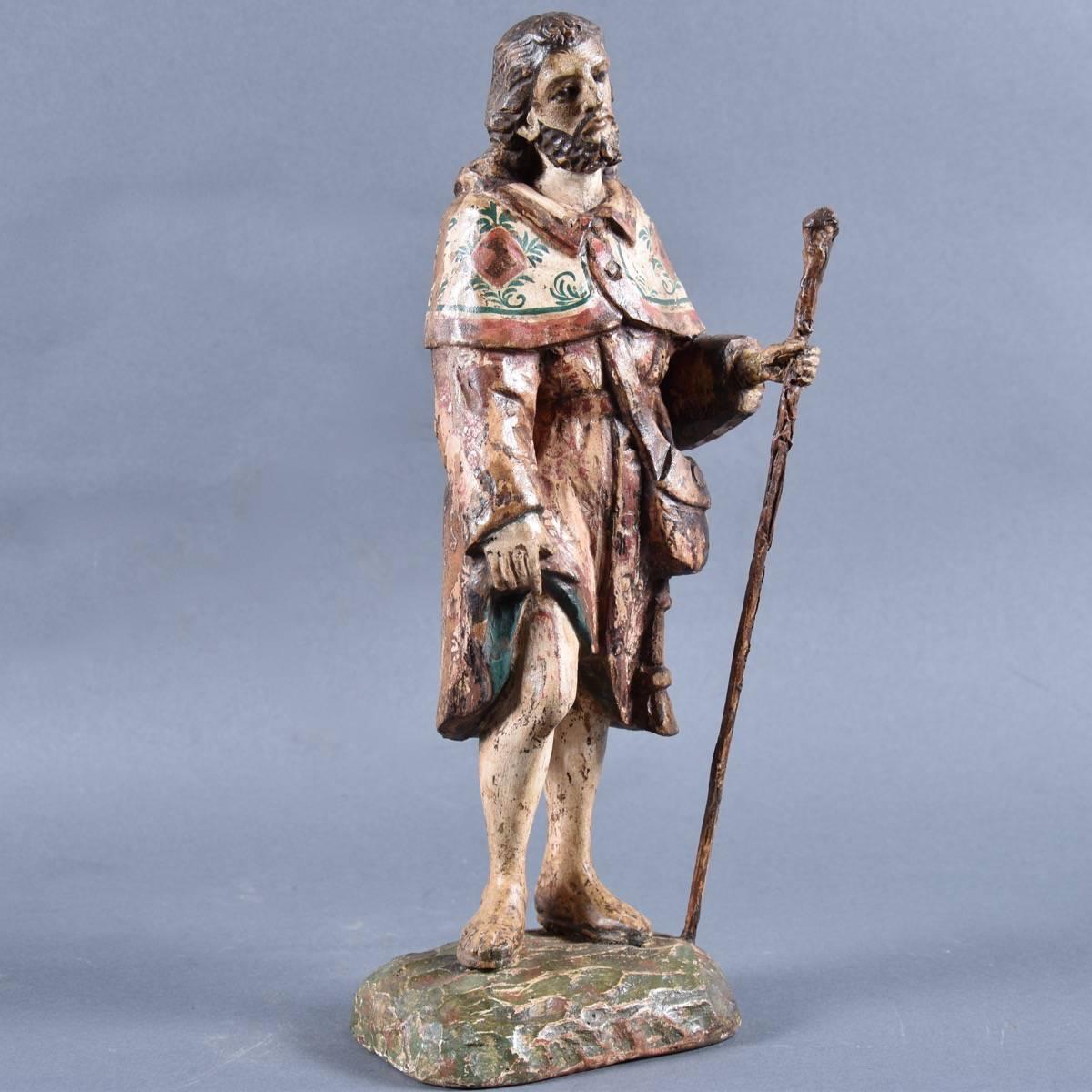 Spanish St Roque Sculpture Haute Epoque