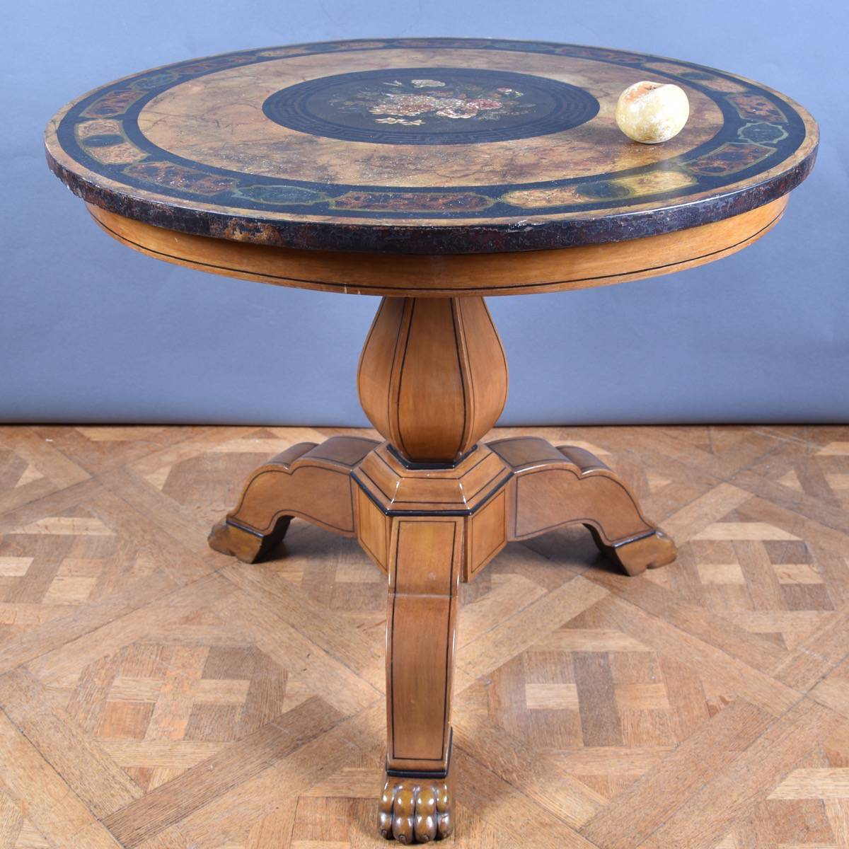 Italian Table With Scagliola Top De Grande Antique Furniture