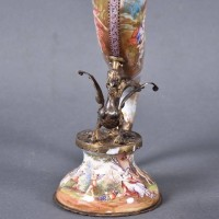 Viennese Vermeil & Enamel cornucopia | De Grande Decorative Austrian Antique