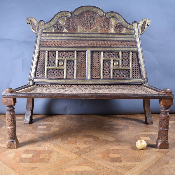 Rope Bench Rajasthani Vintage Antique
