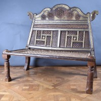 Antique Indian Rope Bench