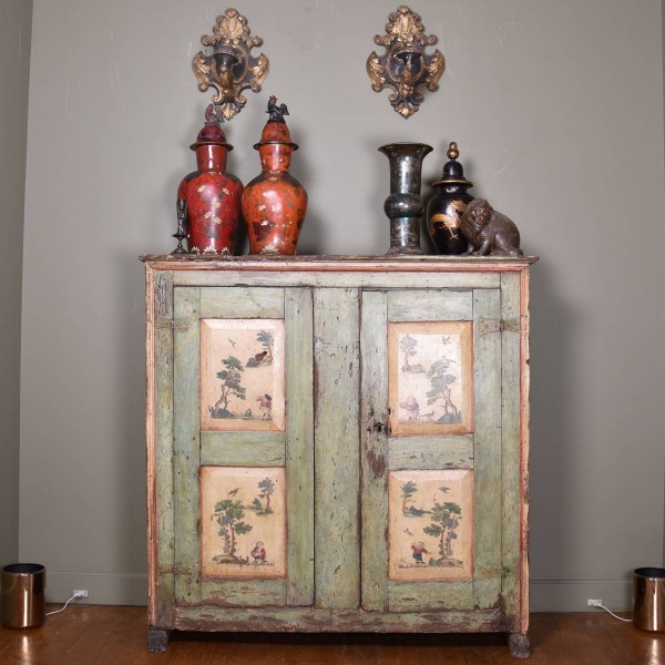 Italian Cupboard and Wall Sconces