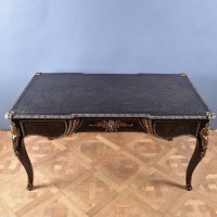 Antique Brass inlaid Bureau Plat