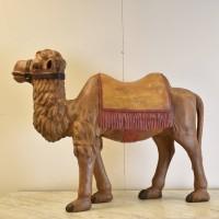 Decorative Wood Figure of a Camel