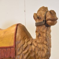 Antique Wood Figure of a Camel