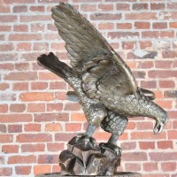 Antique wood Eagle