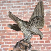 Finely Carved wood Eagle